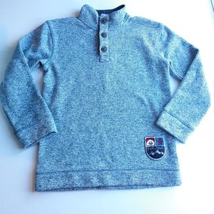 Button up pull over dressy Sweat Shirt Size 8